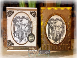 COOSA Crafts clear stamp #10 - Getting Dressed A7
