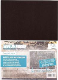 COOSA Crafts - Cardstock Black Smooth 300gsm - A4 - 10 vel