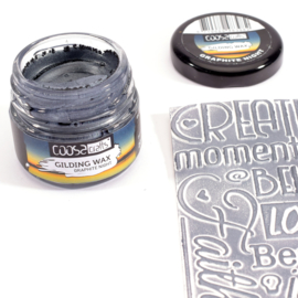 COOSA Crafts Gilding Wax - potje 20ml - Graphite - Grafiet - Graphit - 12 Qty