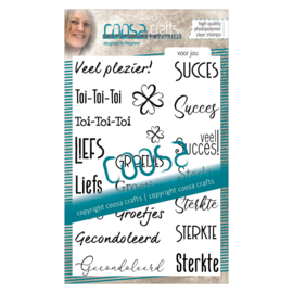 COOSA Crafts Clear Stamp #12 - Voor jou (NE) A6