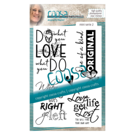 COOSA Crafts clear stamp #02 - Do Mini's (EN) A6 - 5 pcs
