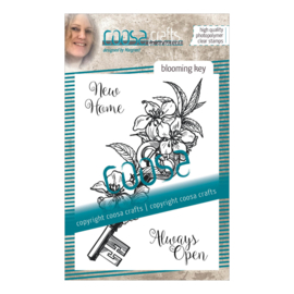 COOSA Crafts clear stamp #09 - Blooming Key A7