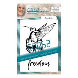 COOSA Crafts clear stamp #09 - Freedom A7