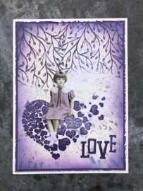 COOSA Crafts Clear Stamp #15 - Love Flow A6