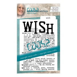 COOSA Crafts Clear Stamp #16 - Wish A7