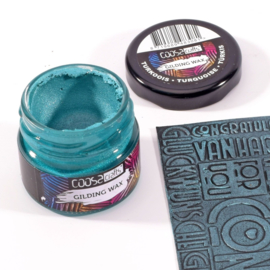 COOSA Crafts Gilding Wax - potje 20ml - turkoois-turquoise-turkis - 12 Qty
