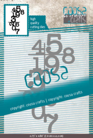 COOSA Crafts Cutting Die - Numbers - by Monique