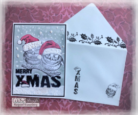 COOSA Crafts Clear Stamp #17 - Xmas envelope A6