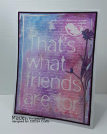 COOSA Crafts clear stamps A6 #5 - Friends (EN) - 10 Qty
