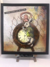 COOSA Crafts clear stamp #08 - Watch the Rabbit A7