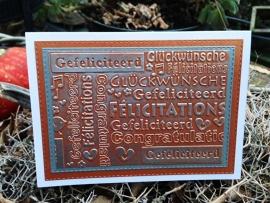 Gefeliciteerd/Congratulations/Glückwünsche/Félicitations
