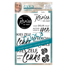 COOSA Crafts clear stamp #01 - Leuks (NL) A6 - 8 pcs