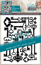 COOSA Crafts Embossing Folder - Keys - 10/Pkg