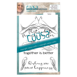 COOSA Crafts clear stamp #03 - Twice (EN) A6 - 3 pcs