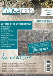 COOSA Crafts - Cardstock Black Smooth 300gsm - A6 - 40 vel