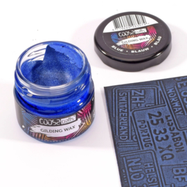 COOSA Crafts Gilding Wax - potje 20ml - blue-blauw-blau - 12 Qty