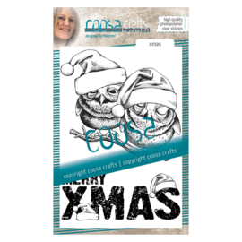 COOSA Crafts Clear Stamp #17 - Xmas owlies A6