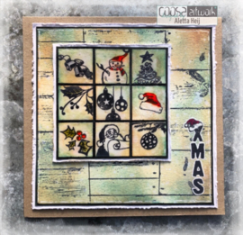 COOSA Crafts Clear Stamp #17 - Background A6