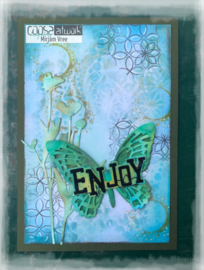 COOSA Crafts Clear Stamp #15 - Enjoy A7