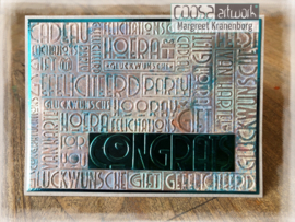 COOSA Crafts Embossing Folder - Congrats - 10/Pkg