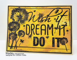 COOSA Crafts clear stamp #05 - Wish it (EN) A6