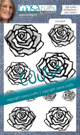 COOSA Crafts Clear Stamps #20 - Love my jeans - Rose Patch A6
