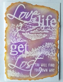 COOSA Crafts clear stamps A6 #2 - 'GET LOST' - 10 Qty