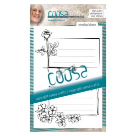 COOSA Crafts clear stamp #04 - Envelope Bloom A6