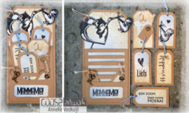 COOSA Crafts Clear Stamps #18 - MammaMia A7
