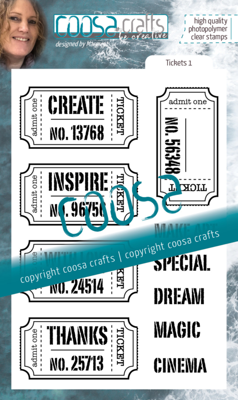 COOSA Crafts Clear Stamps #21 - Tickets 1 A6