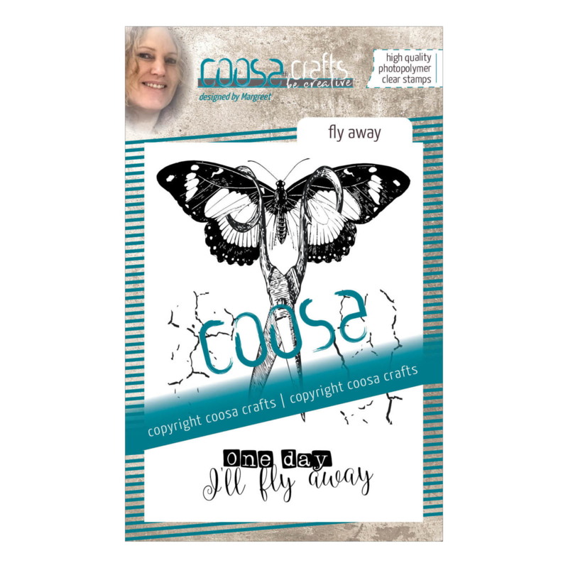 COOSA Crafts clear stamp #09 - Fly Away A7