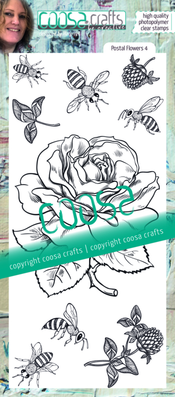 COOSA Crafts Clear Stamps #22 - Postal Flowers 4