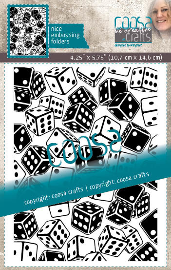 COOSA Crafts Embossing Folder - Mooi voor Mannen - Rolling Dice - by Margreet