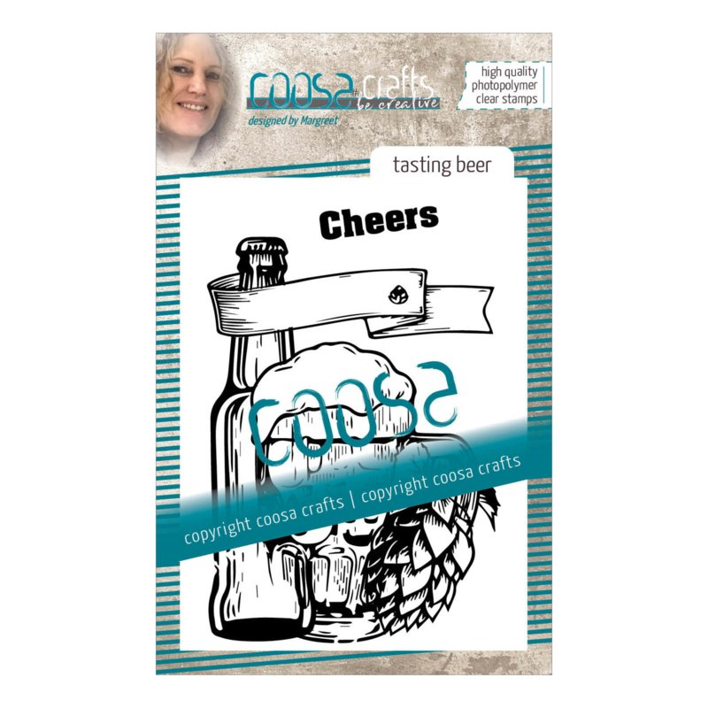 COOSA Crafts clear stamp #09 - Tasting Beer A7