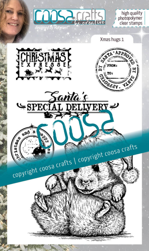 COOSA Crafts Clear Stamps #23 - Xmas Hugs 1 - A6