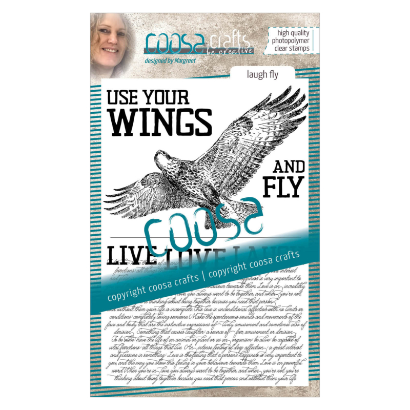 COOSA Crafts Clear Stamp #16 - Love Fly A6