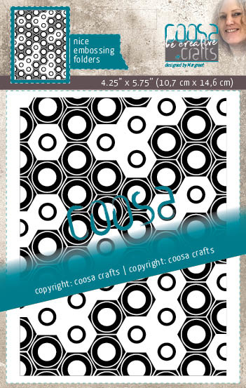 COOSA Crafts Embossing Folder - Mooi voor Mannen - Totally Nuts - 10/Pkg