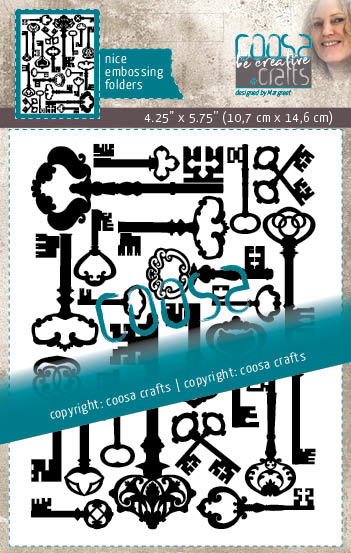 COOSA Crafts Embossing Folder - Keys - 10/Pkg