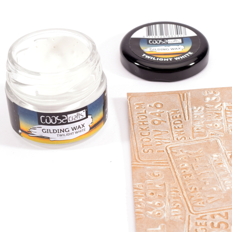 COOSA Crafts Gilding Wax - 20ml - Twilight - Twilight White - 12/Pkg