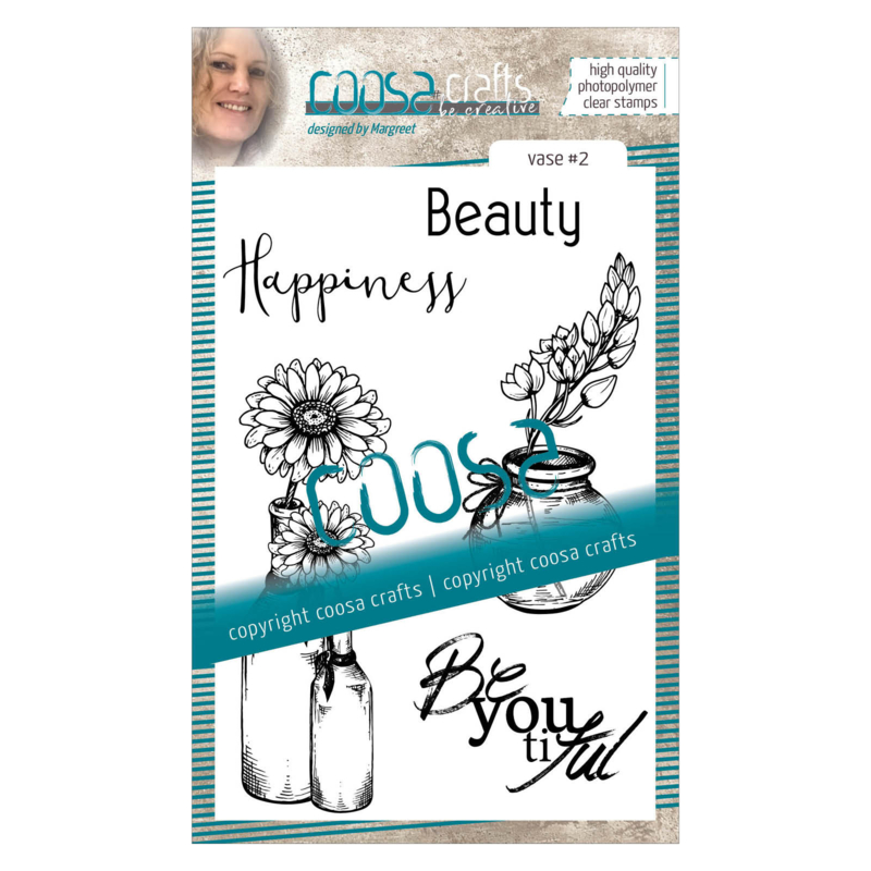 COOSA Crafts clear stamp #07 - Vase 2 A6