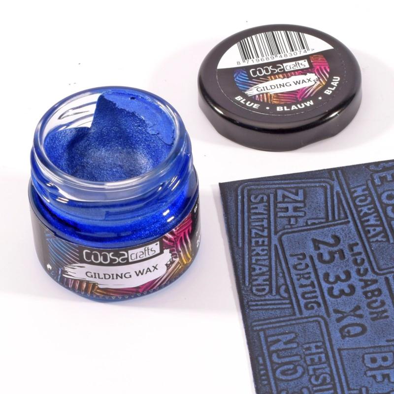 COOSA Crafts Gilding Wax - 20ml - Metallic Blue - 12/Pkg