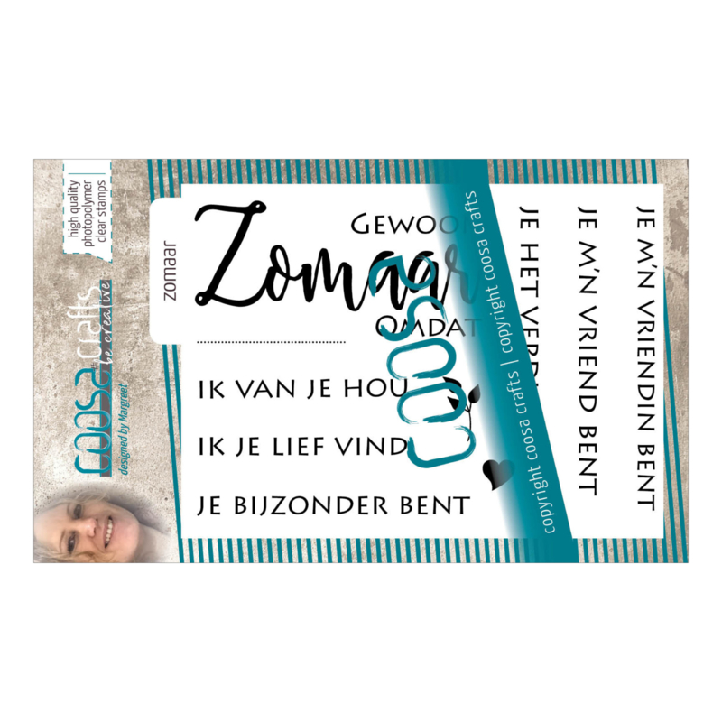 COOSA Crafts clear stamp #01 - Zomaar (NL) A7 - 9 pcs