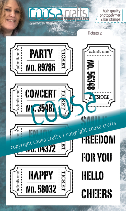 COOSA Crafts Clear Stamps #21 - Tickets 2 A6