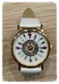 Horloge - Veren wit