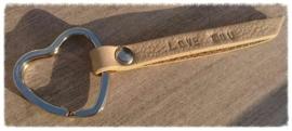 Leren sleutel-/tashanger - Eigen ontwerp