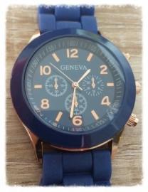 Horloge - Geneva donkerblauw