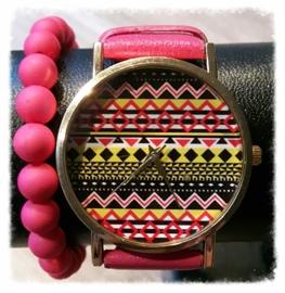 Setje - Roze hippie