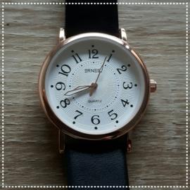 Horloge - Ernest zwart roségoud