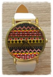 Horloge - Hippie wit