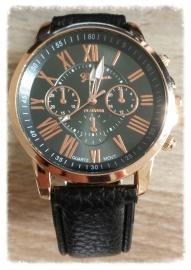 Horloge - Geneva chic zwart